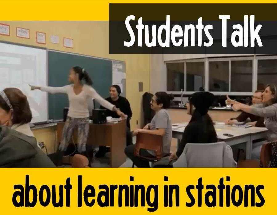 Students Talk about Learning in Stations.