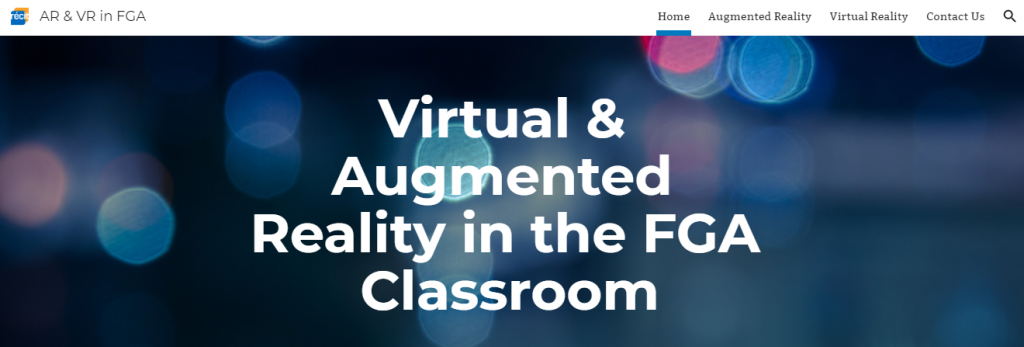 Virtual and Augmented Reality in the FGA Classroom Workshop Resources