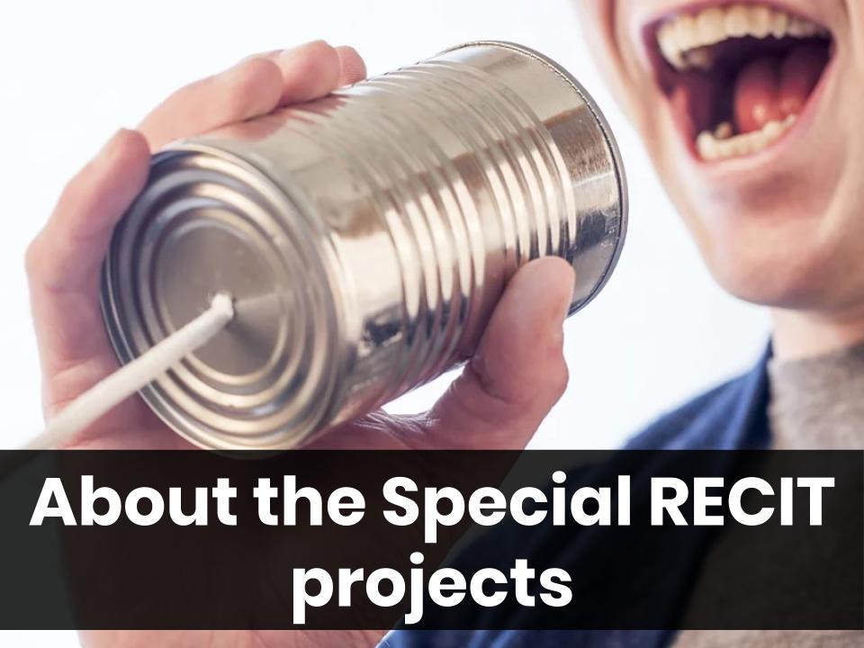 About the Special RECIT Projects