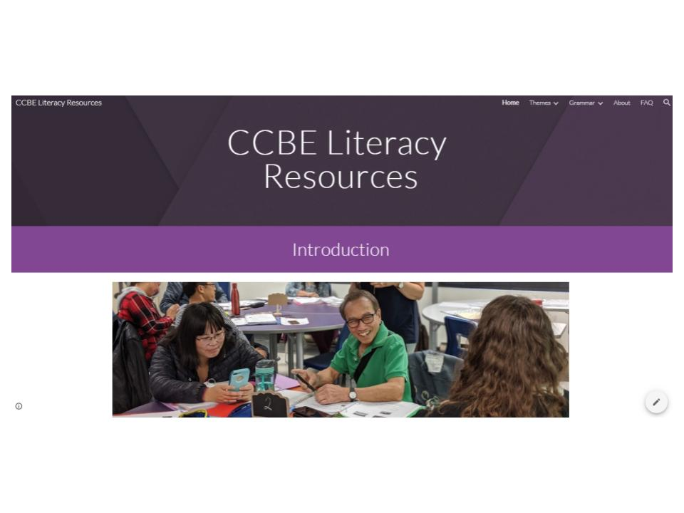 CCBE Literacy Resources