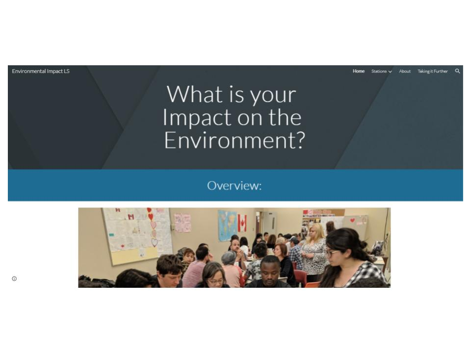 What is your environmental impact website
