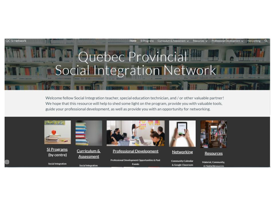 Quebec Social Integration Website