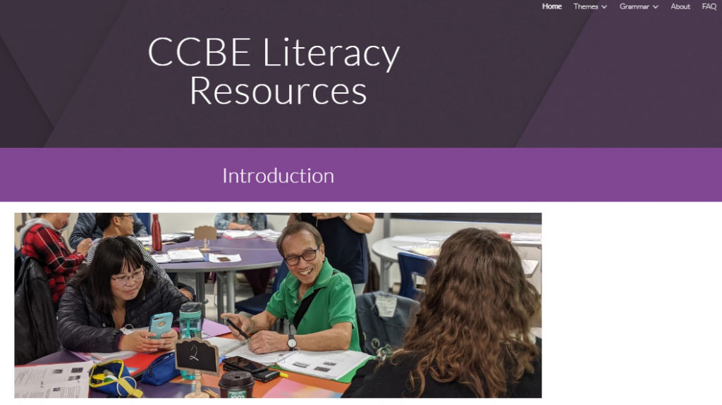 CCBE Literacy Resources Website