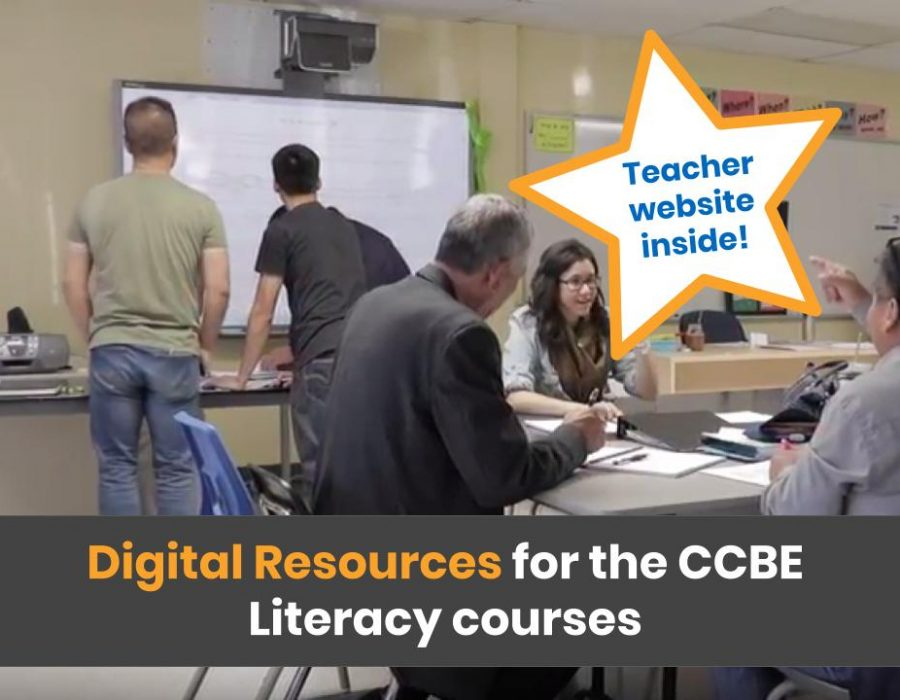 Digital Resouces for the CCBE Literacy courses